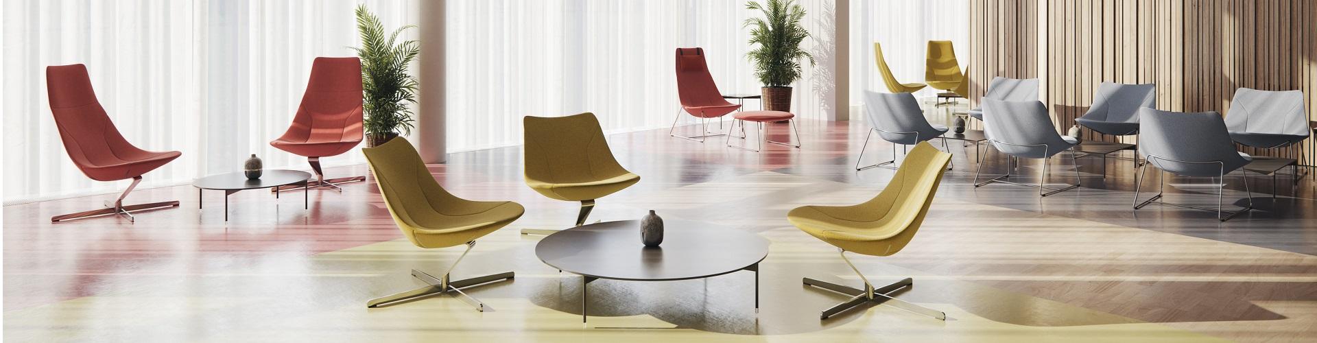 irodai forgószék, tárgyalóasztal, irodaszék, virágtartó, gurulós szék